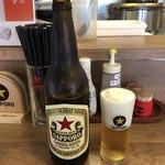 へそ - 瓶ビール(大瓶) サッポロ赤星♪