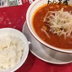 タンメン笑盛 - 赤海タンメンと白飯