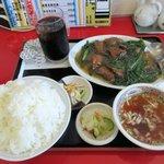 けん蔵 - レバニラ炒め定食(ご飯大盛り)2018.08.31