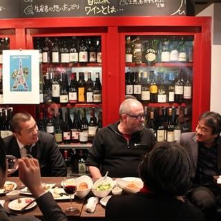 大阪随一!200種類の自然派ワインのセラーを見ながらワイワイ