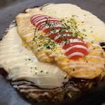 福えびす - ホワイトソース明太チーズオム お好み焼き