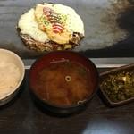 福えびす - ごはん味噌汁 はランチ時はプラス50円でつけられます。