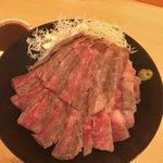 the肉丼の店 - 「黒毛和牛A5サーロインステーキ丼(大)」2,500円