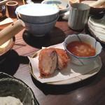 92096814 - 大ぶり椎茸の海老しんじょうかつ (単品オーダー)