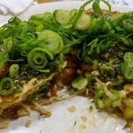 ひろしま鉄ちゃん - 広島のお好み焼き,ねぎかけ