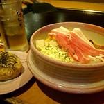 やっちゃば - 料理写真:デラックス玉焼ランチのキャベツベース(1150円+税) サラダバー付きよ