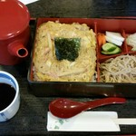 そば処 天龍 - 玉子丼もりそばセット、1,000円。