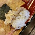 そば処 天龍 - 玉子丼、リフトアップ。