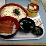 葛の湯 - 当店アシスタントのうな丼とざるうどんのセットはこれで1000円です