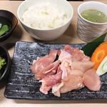 大山鶏 焼肉定食