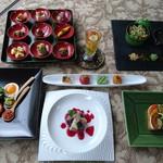 杉幸園 - 料理写真:9月のおまかせコースです。デザートプレート付 3500円は、ご予約にて承っております