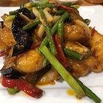 mezonchainaumemoto - 大海老と茄子の魚香炒め