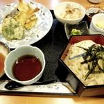9215935 - 冷しうどんと天ぷらランチ(限定20食)です
