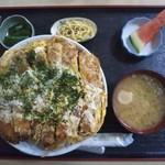 とんかつ山道 - デカツ丼 1340円