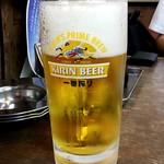 遠州屋 - キリン一番搾り生ビール大ジョッキ:750円