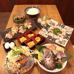 武蔵 - キノコと秋鮭とみつせ鶏団子のクリーミー豆乳鍋コース