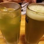 八丈島 - 明日葉ハイと明日葉ビール