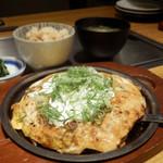 ぼてぢゅう - すじコンと青ねぎたっぷりねぎ焼きモダンセット