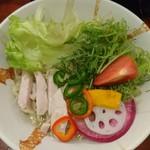 92171232 - 冷し鯛ラーメン+旬菜盛り