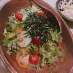 プラスアルファキッチン - 国産大豆のお豆腐サラダ  580円