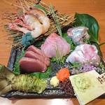 魚京助 - お造り五種盛合せ