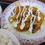 餃子の王将 - チキン南蛮定食 790円(税抜)