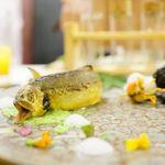 クレアバックス - 和歌山県の鮎、宮崎県の沢蟹 竹炭で包んだとうや芋、 ズワイガニのクロケット