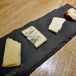Wainshokudouruguruton - ヴィアザビオのチーズ盛り