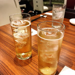 南翔饅頭店 - 梅酒で乾杯