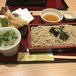 家族亭 - 天ざる蕎麦(1,200円)