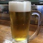 海しゃん - ドリンク写真:まずは生で乾杯!