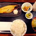 92190486 - 日替わりのサバ文化干し定食(ライス半分)