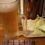 串車力 - 生ビールとお通し