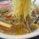 ラーメン玄咲 - 丸鶏スープ麺の麺