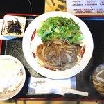 92193853 - 牛バラ野菜炒め定食