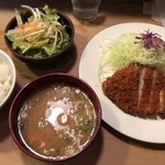 ほりき - ロースかつ定食(1150円)