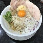 Ramen光鶏 - 背脂煮干しまぜそば 850円