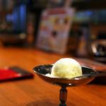 上野 太昌園 - 食後はシャーベットですっきり。