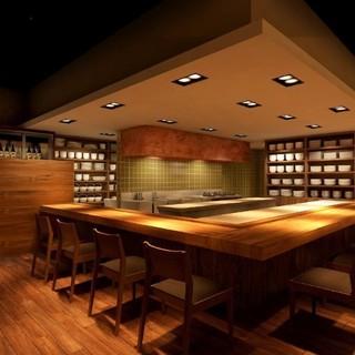 舞台は東京一居心地のいいカウンター◎完全個室はご接待や会食◎