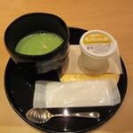 箔座日本橋 - 抹茶と野菜ジェラート 1080円