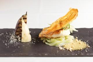 京都 喜Shin - 真鯛のポワレ九条ねぎのブルゼと京都産野菜添えノイリーソース