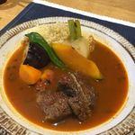 Wines By California Neuf - 仔羊肉とトマトのたっぷり野菜のスパイス煮 クスクスとともに。