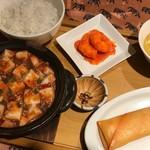 手作り大春巻き & 麻婆豆腐膳