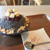 コリアンデザートカフェ ソルビン - 料理写真:黒ゴマ小豆ソルビン