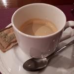 BISTRO SUZUKI - 豚肉のトマト煮込み(1300円) ホットコーヒー