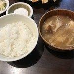 餃子 照井 - 【2018.8.31】ごはんセットA 350円。