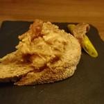 ロワゾー - アミューズ 鶏のリエットと青唐辛子のなんたら(18-09)
