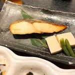 小魚 阿も珍 - 銀ヒラスの西京焼きと高野豆腐