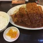 とんかつひろ喜 - 特選ロースとんかつ 特大 定食(¥1050)