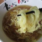 河京ラーメン館 - 麺の感じ